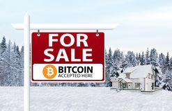 Bitcoin are accepted as payment royalty free stock photos