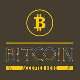 Bitcoin accepted here stock illustration