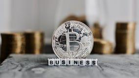 Bitcoin affärsmynt Royaltyfria Bilder
