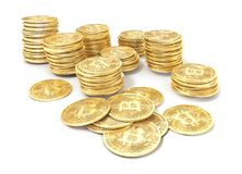 Bitcoin aisló en un fondo de las heces libre illustration