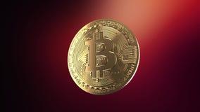Bitcoin - animación de una moneda de torneado almacen de metraje de vídeo