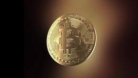 Bitcoin - Animation einer Drehenmünze stock video