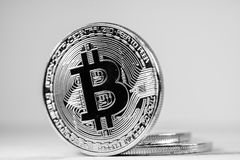 Bitcoin crypocurrency Stock Image