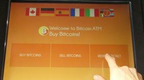 Bitcoin ATM выкупать Стоковое Изображение RF