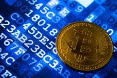 Bitcoin auf einem Diagramm Lizenzfreies Stockbild