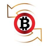 Bitcoin-Austausch-Ikone Lizenzfreies Stockbild