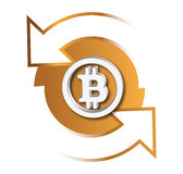 Bitcoin-Austausch-Ikone Lizenzfreie Stockfotos