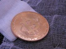 Bitcoin av förbinder överst Royaltyfri Bild