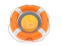 Bitcoin avec la balise de vie Illustration Libre de Droits