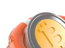 Bitcoin avec la balise de vie Illustration Stock