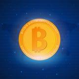 Bitcoin Azienda agricola di estrazione mineraria di Digital Cryptocurrency Bandiera di tecnologia Fotografie Stock Libere da Diritti