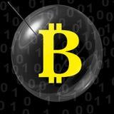 Bitcoin bąbel Obraz Royalty Free
