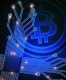 Bitcoin background Stock Image