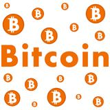 Bitcoin background Royalty Free Stock Image