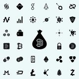 bitcoin in a bag icon. Crypto currency icons universal set for web and mobile royalty free illustration