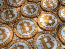 Bitcoin bakgrund Royaltyfria Bilder