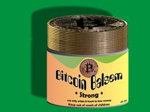 Bitcoin balm - ointment Stock Images