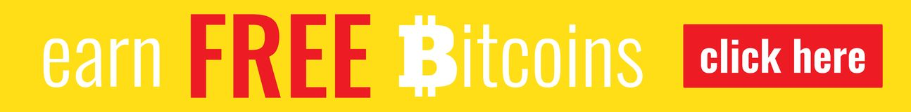 Bitcoin Banner Template Royalty Free Stock Photography