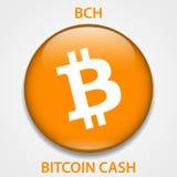 Bitcoin-Bargeld cryptocurrency blockchain Ikone Virtuelles elektronisches, Internet-Geld oder cryptocoin Symbol, Logo vektor abbildung