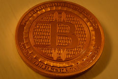 Bitcoin bate o valor de 4000 USD Imagem de Stock Royalty Free