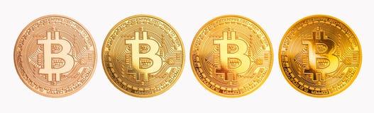 Bitcoin - beetjemuntstuk BTC de nieuwe crypto munt Stock Foto's