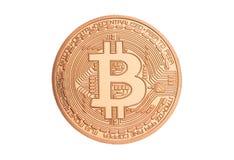 Bitcoin - beetjemuntstuk BTC de nieuwe crypto munt Stock Fotografie