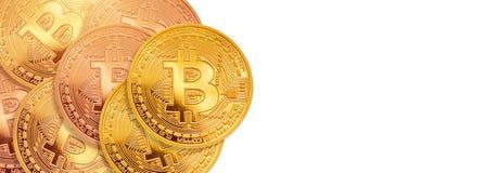 Bitcoin - beetjemuntstuk BTC de nieuwe crypto munt Stock Afbeelding