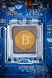 Bitcoin begrepp Royaltyfri Bild