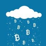 Bitcoin-Bergbauwolke Lizenzfreie Stockfotografie