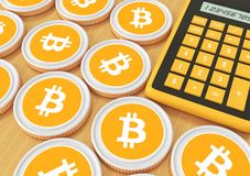 Bitcoin. Bidding on the exchange with Crypto currency. Extractio Stock Photo