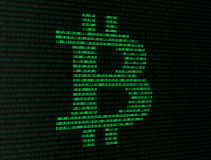 Bitcoin binary numbers Royalty Free Stock Photography