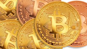 Bitcoin - bit coin BTC the new crypto currency stock footage