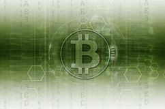 Bitcoin & blockchain例证绿色 皇族释放例证