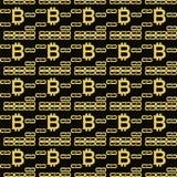 Bitcoin blockchain无缝的样式 免版税库存图片