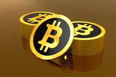 Bitcoin, Blockchain будущее иллюстрация штока