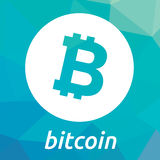 Bitcoin blockchain criptocurrency商标 免版税库存图片