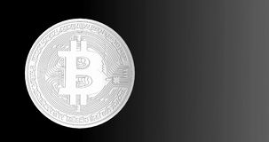 Bitcoin blockchain crypto currency digital encryption network for world money, alpha channel. Bitcoin blockchain crypto currency digital encryption network for stock video