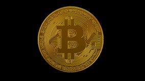 Bitcoin blockchain crypto netwerk van de munt het digitale encryptie voor wereldgeld, alfakanaal royalty-vrije illustratie