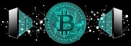 Bitcoin, blockchain, cryptocurrency pojęcie ilustracji