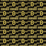 Bitcoin blockchain seamless pattern Royalty Free Stock Images