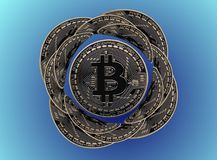Bitcoin blomma royaltyfri bild