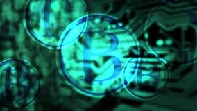 Bitcoin bristning royaltyfri illustrationer