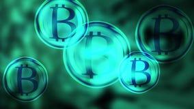 Bitcoin bristning vektor illustrationer