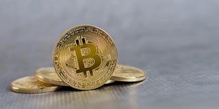 Bitcoin concept coin Royalty Free Stock Photo