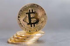 Bitcoin concept coin Stock Image