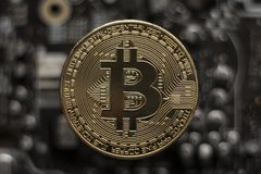 Bitcoin. btc. Crypto currency bitcoin stock image