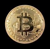 BitCoin BTC d'isolement Photo libre de droits