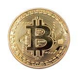 BitCoin BTC d'isolement Images libres de droits