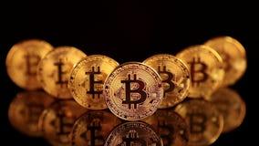 Bitcoin BTC el nuevo cryptocurrency virtual de Internet stock de ilustración