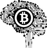 Bitcoin BTC flag cloth illustration crypto royalty free illustration